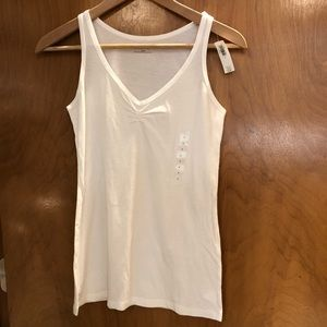 Gap NWT ruched front tank white S
